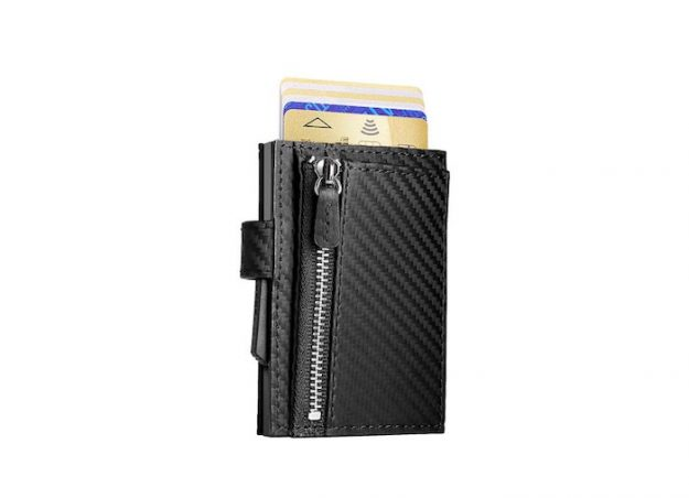 CASCADE ZIPPER black carbon leather