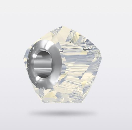 SWAROVSKI BeCharmed Helix Bead white opal