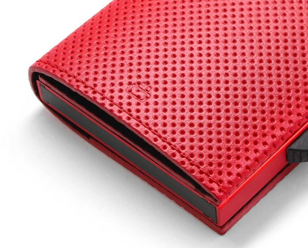 CASCADE SLIM PÉNZTÁRCA red vegan leather