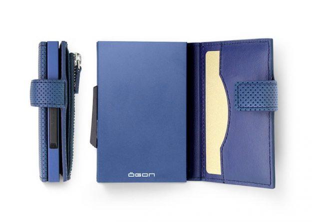 CASCADE ZIPPER blue vegan leather
