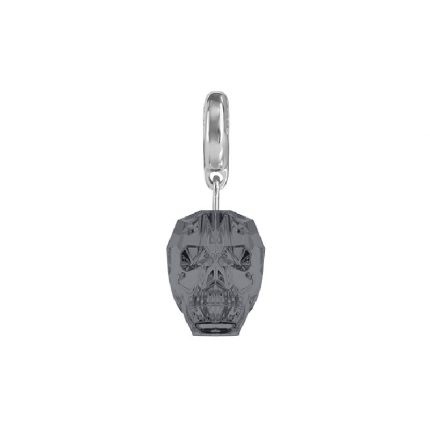 SWAROVSKI BeCharmed Skull Charm silver night