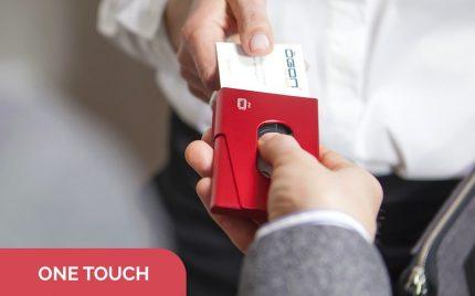 ONE TOUCH BUSINESS CARD HOLDER